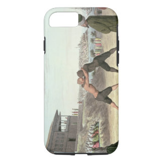 Wrestling Match, Constantinople (w/c on paper) iPhone 7 Case