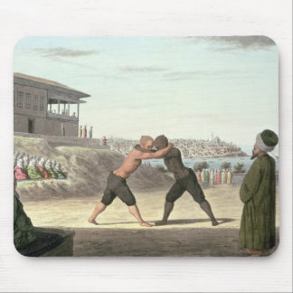 Wrestling Match, Constantinople (w/c on paper) Mouse Pad