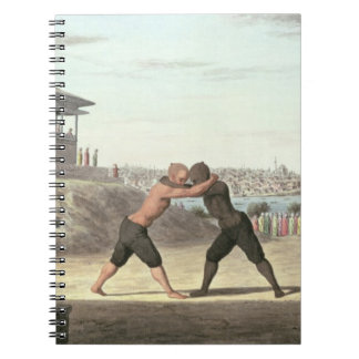 Wrestling Match, Constantinople (w/c on paper) Notebook