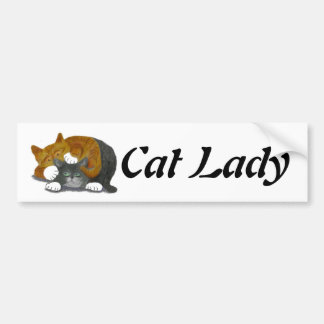 Wrestling Match with Two Cats Car Bumper Sticker