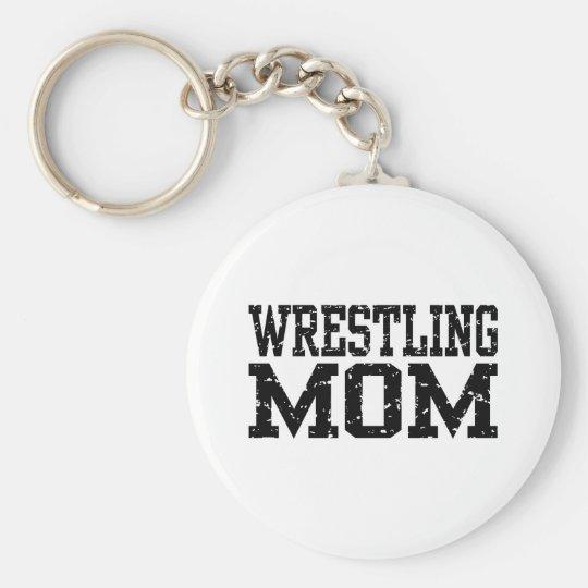 Wrestling Mom Keychain