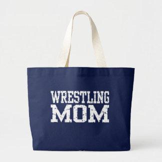 Wrestling Mom Large Tote Bag