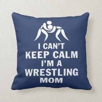 Wrestling Mom Throw Pillow