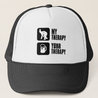 wrestling my therapy designs trucker hat