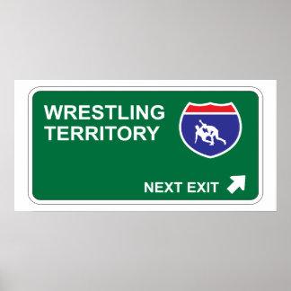 Wrestling Next Exit Print