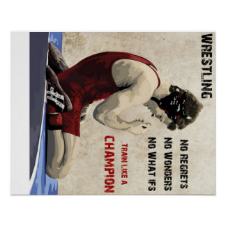 wrestling - no regrets poster