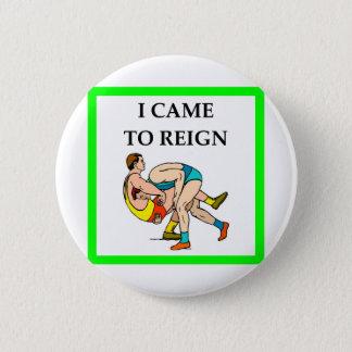 wrestling pinback button