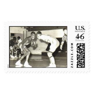 wrestling postage stamps