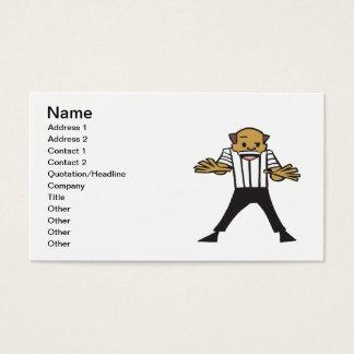 Wrestling Referee Business Card