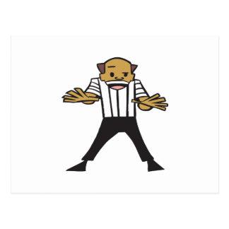 Wrestling Referee Postcard