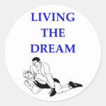 wrestling round sticker