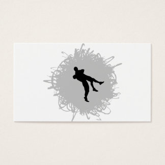 Wrestling Scribble Style Business Card