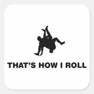 Wrestling Square Stickers