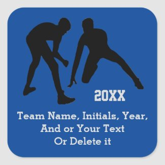 Wrestling Stickers with Your Text and Team Colors