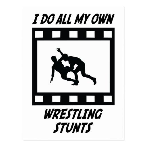 Wrestling Stunts Post Card