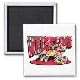 Wrestling Takedown 2 Inch Square Magnet