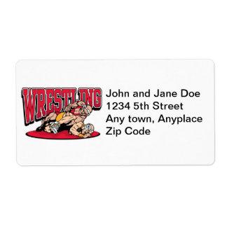 Wrestling Takedown Custom Shipping Label
