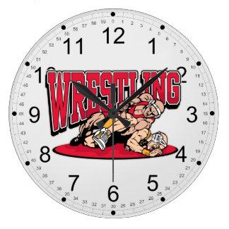 Wrestling Takedown Large Clock