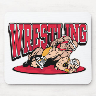 Wrestling Takedown Mouse Pad