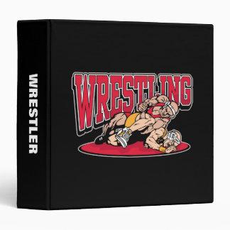 Wrestling Takedown Vinyl Binder