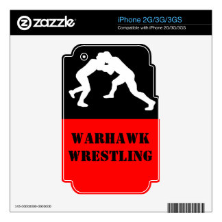 Wrestling team phone case iPhone 3GS decal