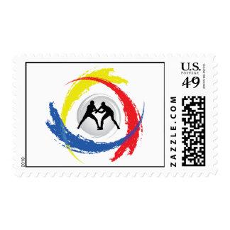 Wrestling Tricolor Emblem Postage