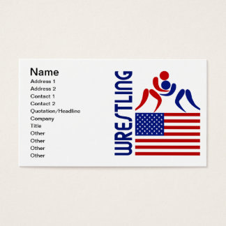 Wrestling United States Business Card