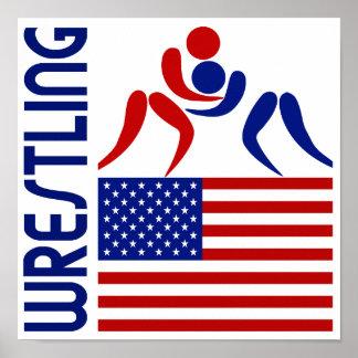 Wrestling United States Poster