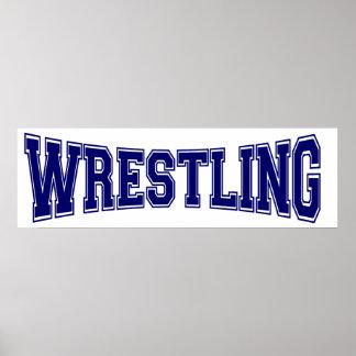 Wrestling University Style Poster