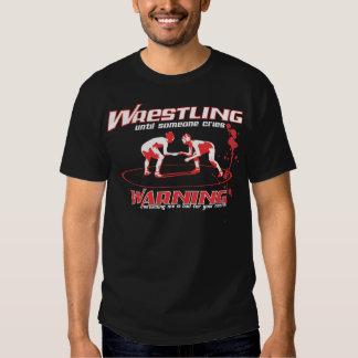 Wrestling Until Someone Cries with Blood Splatter T-Shirt