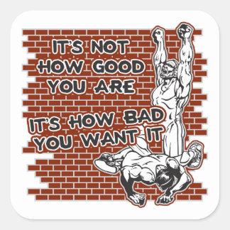 Wrestling Victory Square Sticker