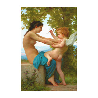 Wrestling with Cupid 1880 Gallery Wrap Canvas