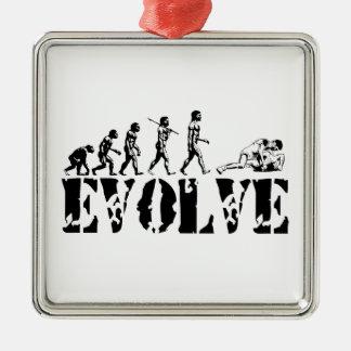 Wrestling Wrestler Grappling Sports Evolution Art Ornaments