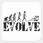 Wrestling Wrestler Grappling Sports Evolution Art Square Sticker