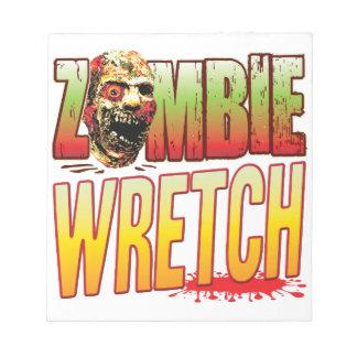 Wretch Zombie Head Memo Note Pads