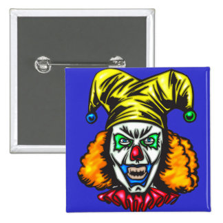 Wretched Evil Clown 2 Inch Square Button