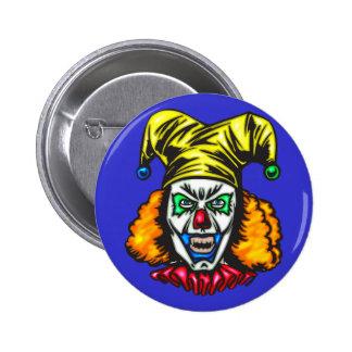 Wretched Evil Clown 2 Inch Round Button