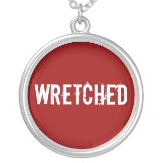 WRETCHED ROUND PENDANT NECKLACE