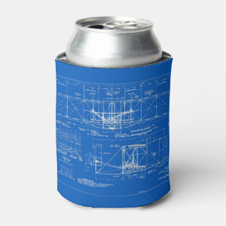 "Wright Bros. ""Flyer"" Blueprint 1903 Can Cooler"