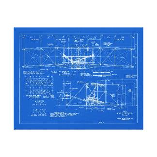 """Wright Bros. """"Flyer"""" Blueprint 1903 Canvas Print"""