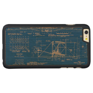 """Wright Bros. """"Flyer"""" Blueprint 1903 Carved Cherry iPhone 6 Plus Case"""