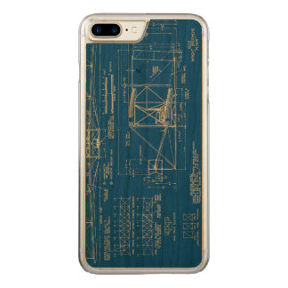 """Wright Bros. """"Flyer"""" Blueprint 1903 Carved iPhone 7 Plus Case"""
