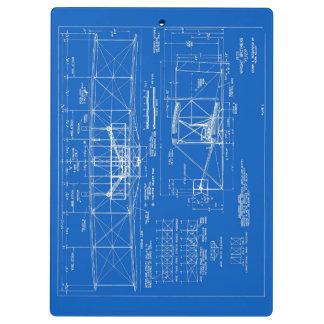 "Wright Bros. ""Flyer"" Blueprint 1903 Clipboards"