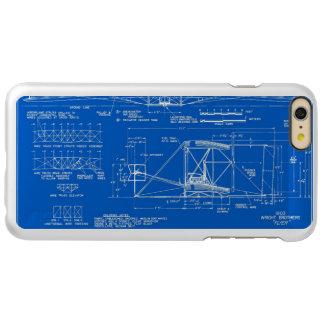 "Wright Bros. ""Flyer"" Blueprint 1903 Incipio Feather Shine iPhone 6 Plus Case"