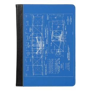 Vintage blueprint ipad cases zazzle flyer blueprint 1903 ipad malvernweather Images