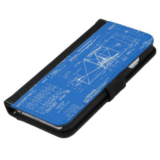 "Wright Bros. ""Flyer"" Blueprint 1903 iPhone 6/6s Wallet Case"