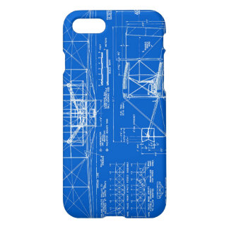 "Wright Bros. ""Flyer"" Blueprint 1903 iPhone 8/7 Case"