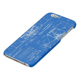 """Wright Bros. """"Flyer"""" Blueprint 1903 Glossy iPhone 6 Case"""