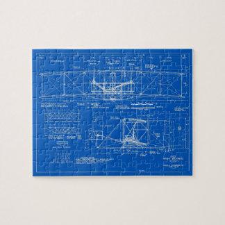 "Wright Bros. ""Flyer"" Blueprint 1903 Jigsaw Puzzle"