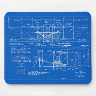 """Wright Bros. """"Flyer"""" Blueprint 1903 Mousepad"""